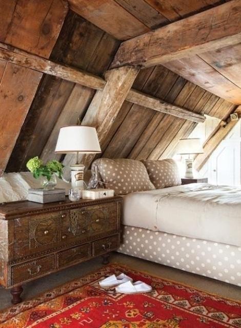 дизайн спальни в деревенском стиле фото 27