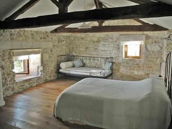 ремонт спальни в деревенском стиле фото 25