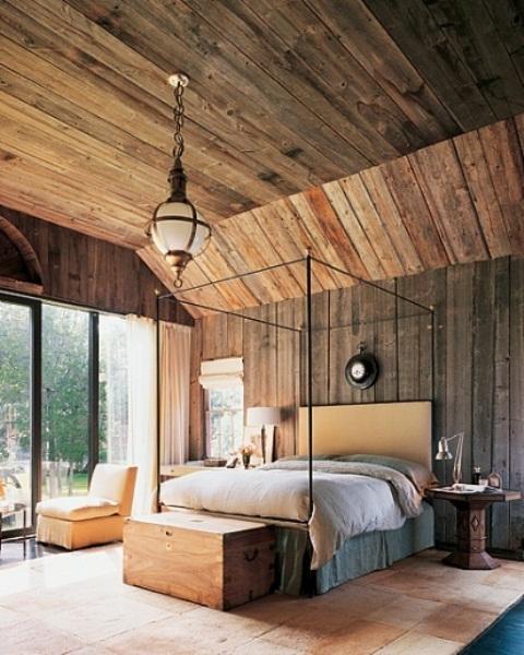 ремонт спальни в деревенском стиле фото 24