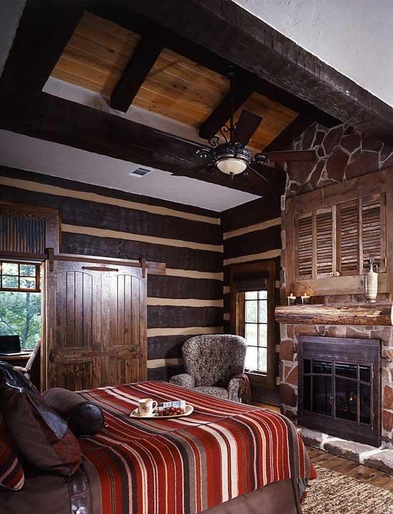 интерьер спальни в деревенском стиле фото 20