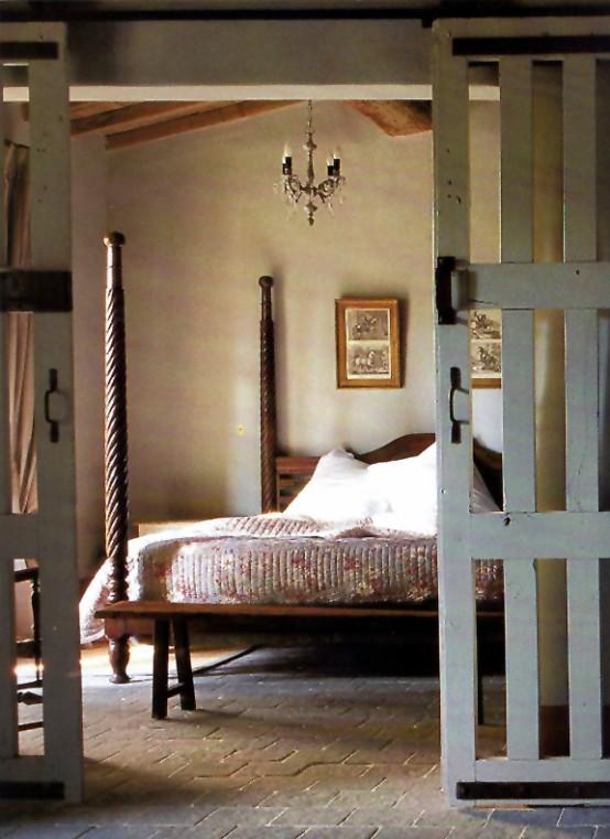 интерьер спальни в деревенском стиле фото 18