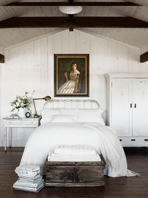 дизайн  спальни в деревенском стиле фото 16