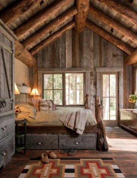 дизайн  спальни в деревенском стиле фото 14