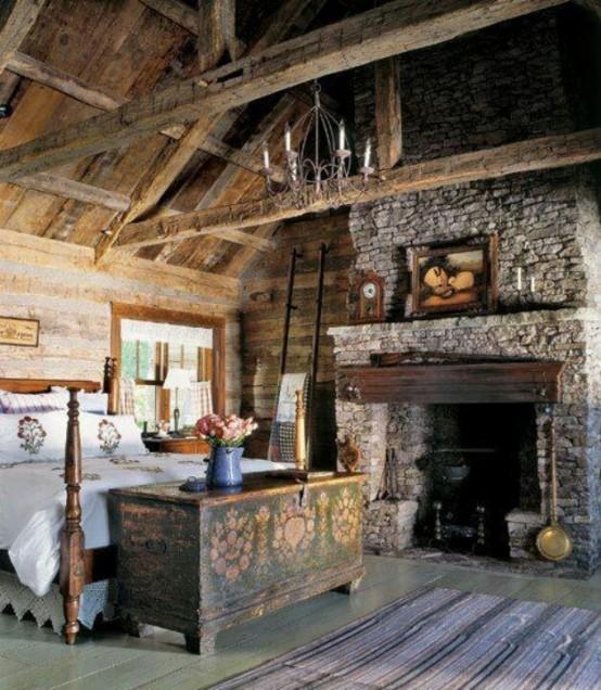 фото спальни в деревенском стиле 5