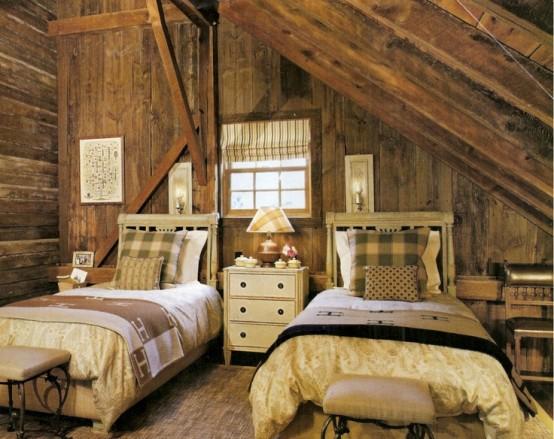 дизайн  спальни в деревенском стиле фото 4