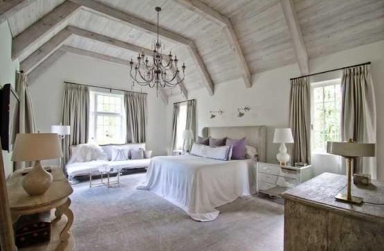дизайн спальни в деревенском стиле фото 29