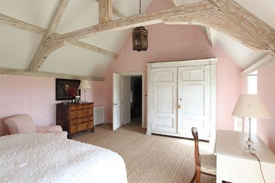 дизайн спальни в деревенском стиле фото 28