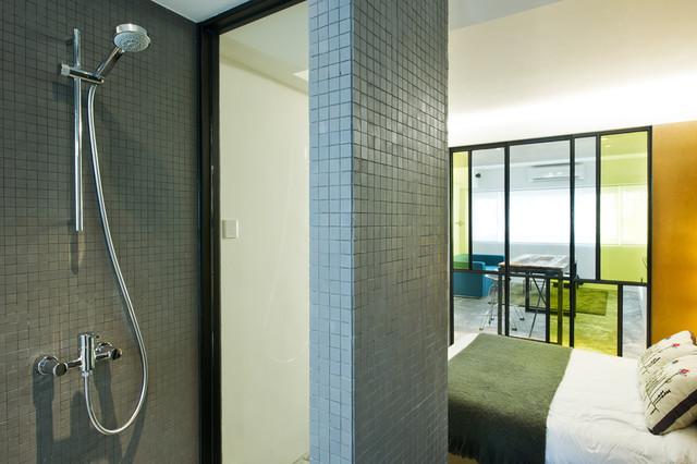 дизайн спальни в узкой квартире