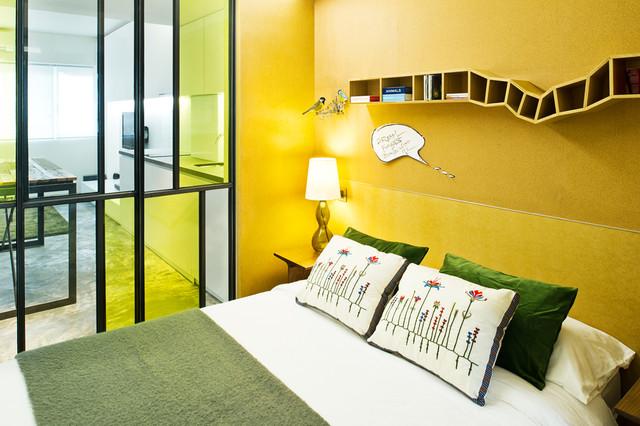 спальня в узкой квартире
