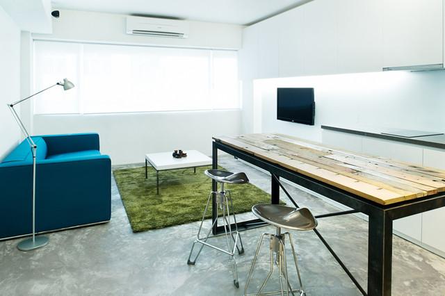 гостиная в узкой квартире
