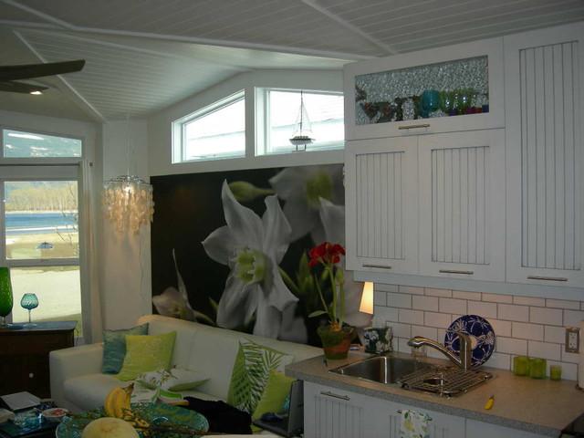 фотообои цветы на кухне