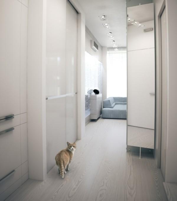 Квартира в белом - коридор