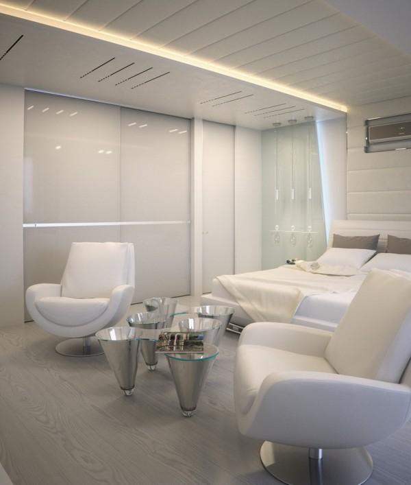 Квартира в белом - дизайн спальни