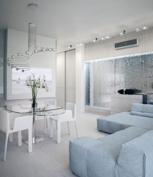 Квартира в белом - столовая