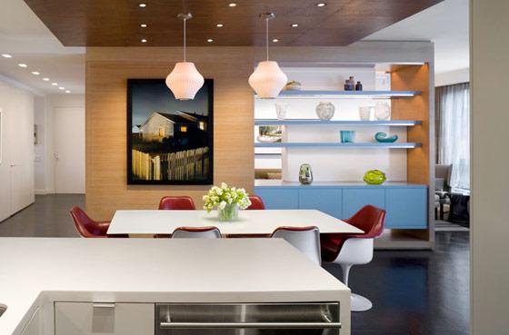 Перегородка между кухней и гостиной фото 4