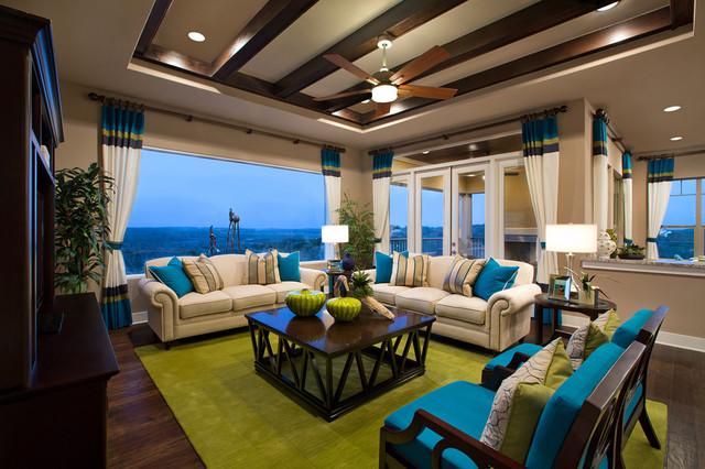 Цвет в интерьере - фото гостиной