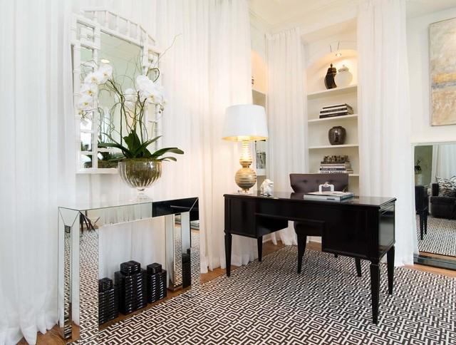 интерьер в стиле Арт-деко - гостиная комната