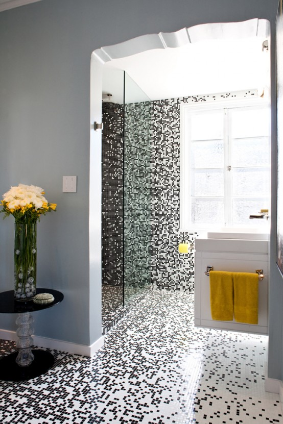 Красивая мозаика в ванной