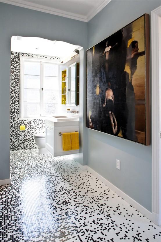 Красивая мозаика в ванной фото 1