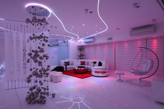 подсветка потолка светодиодными лампами фото