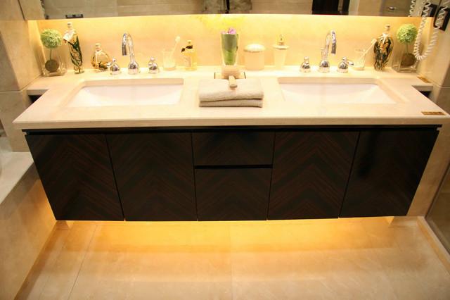 Подсветка светодиодной лентой  ванной комнаты