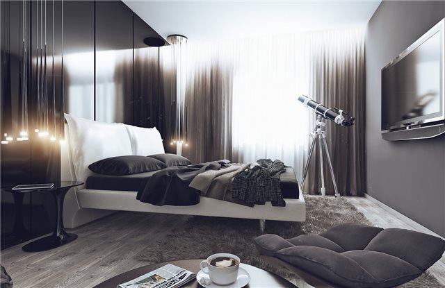 модная квартира - спальня