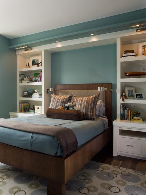 интерьер стильной подростковой комнаты