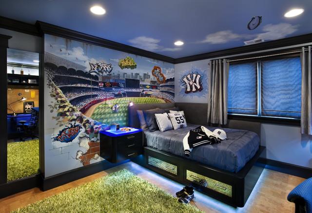 комната мальчика подростка спортсмена
