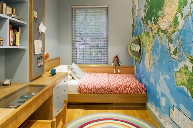 нейтральная подростковая комната