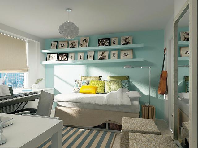 минималистичная подростковая комната