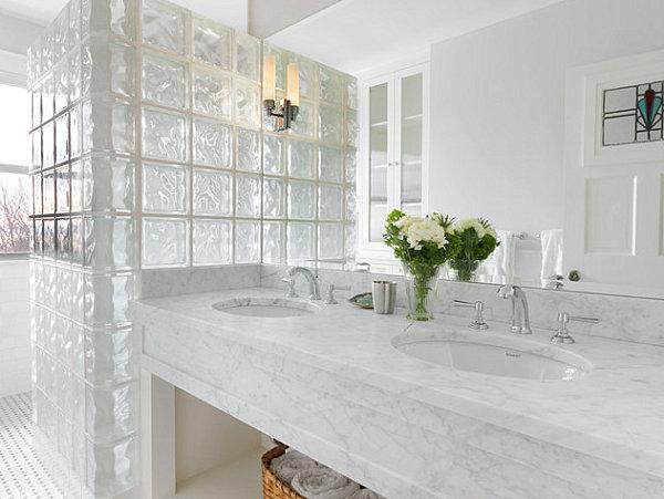 стеклоблоки в ванной