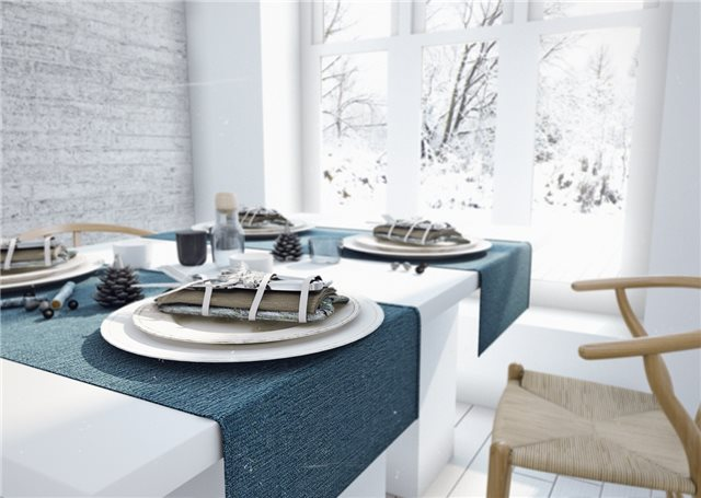 стильный дом - столовая комната фото