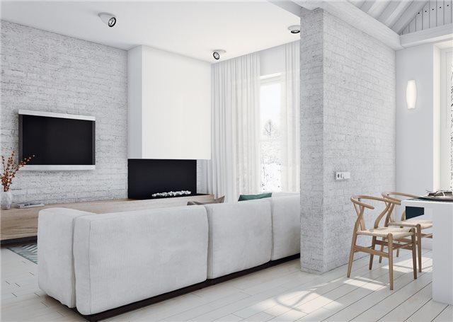телевизор в стильном доме