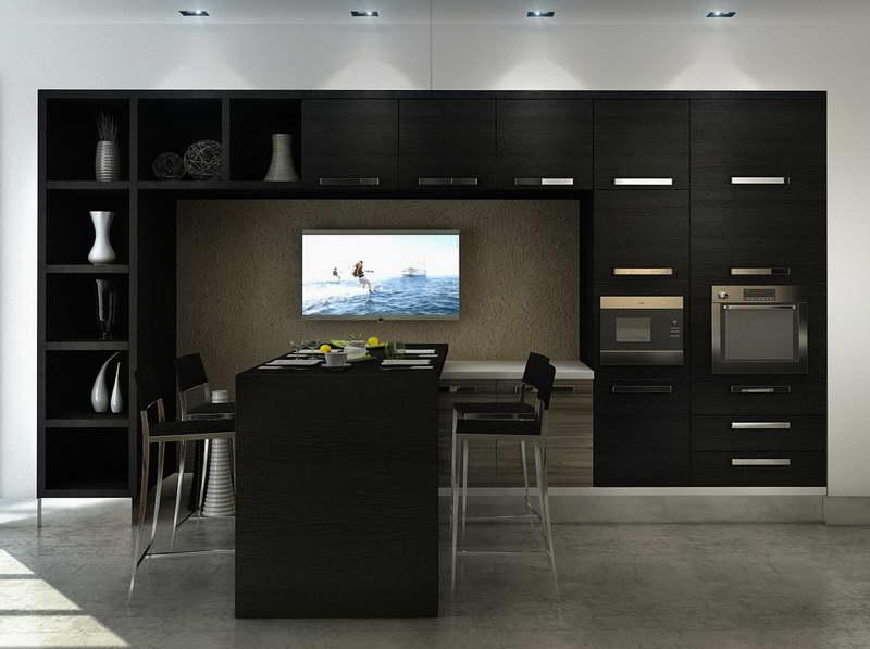 Строгая черная кухня