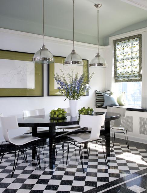переходный стиль черно-белой кухни