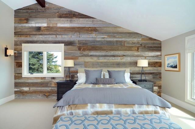дизайн стен в спальне в стиле ранчо
