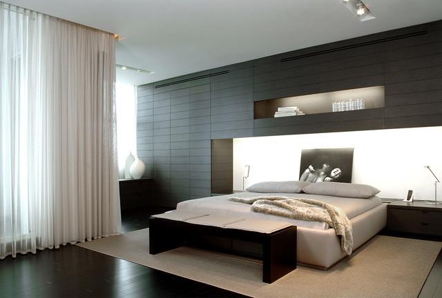 сочетание цвета стен - черного и белого
