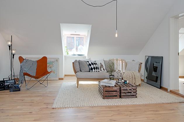 гостиная в уютной квартире