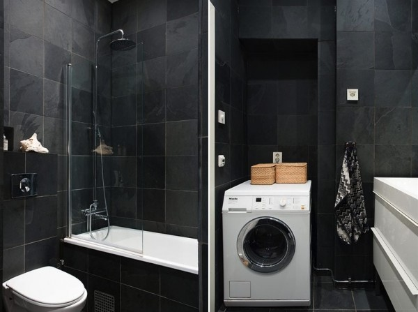 квартира с эркером - интерьер ванной