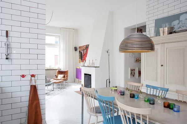декоративная перегородка между кухней и гостиной