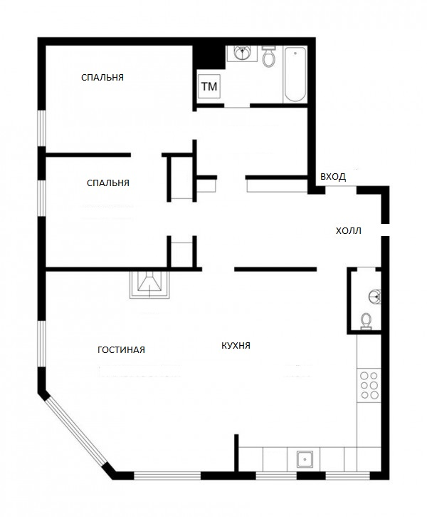 план квартиры с эркером