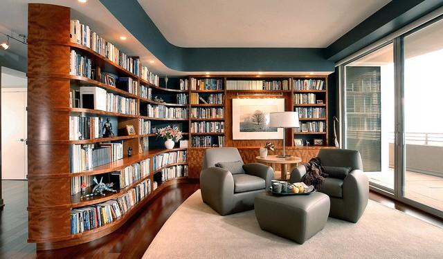 Домашняя библиотека - интерьерные решения (7)