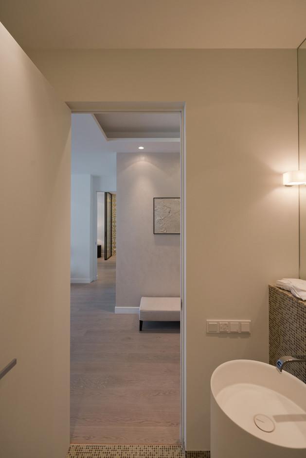 ванная в студии квартире