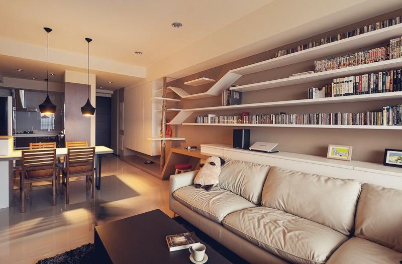 Дизайн двухкомнатной квартиры фото гостиной