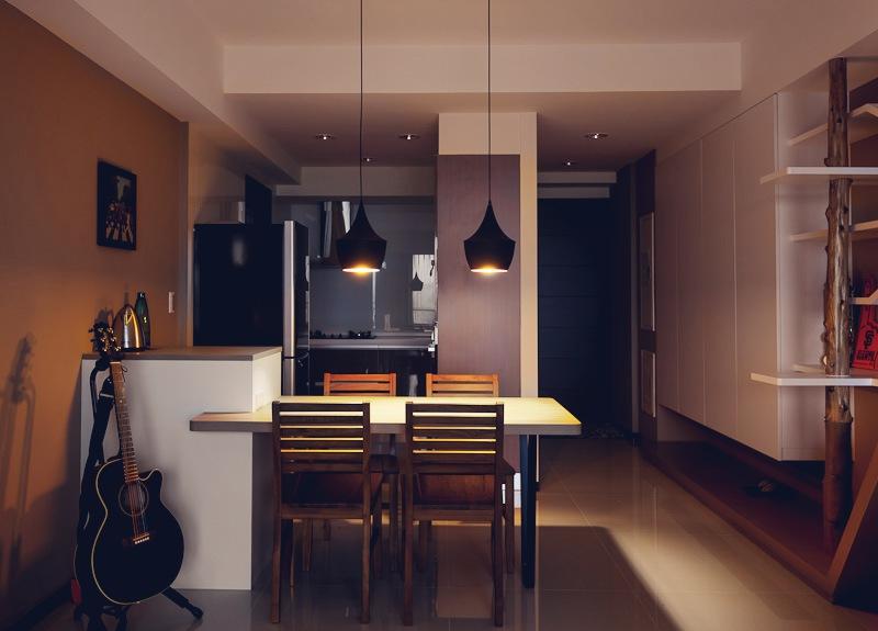 Дизайн двухкомнатной квартиры фото кухни