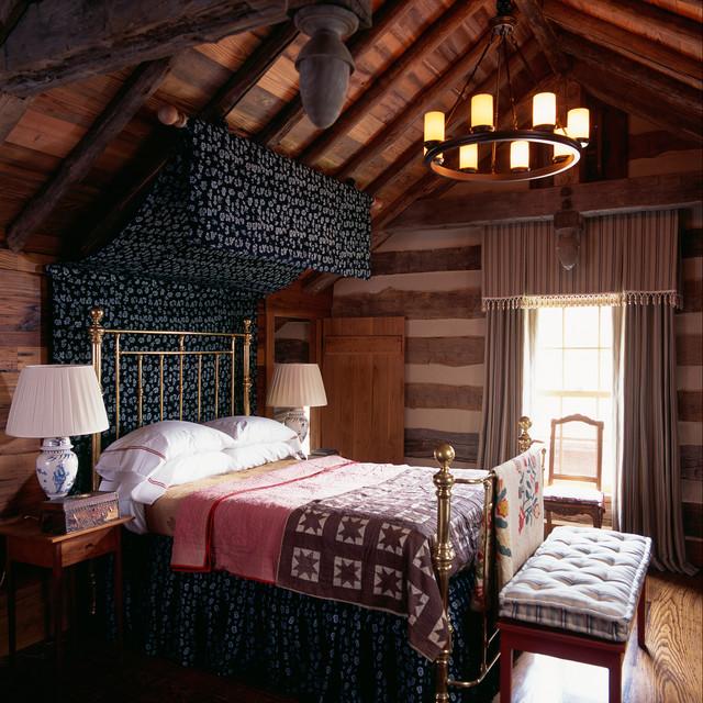 балдахин над кроватью на чердаке