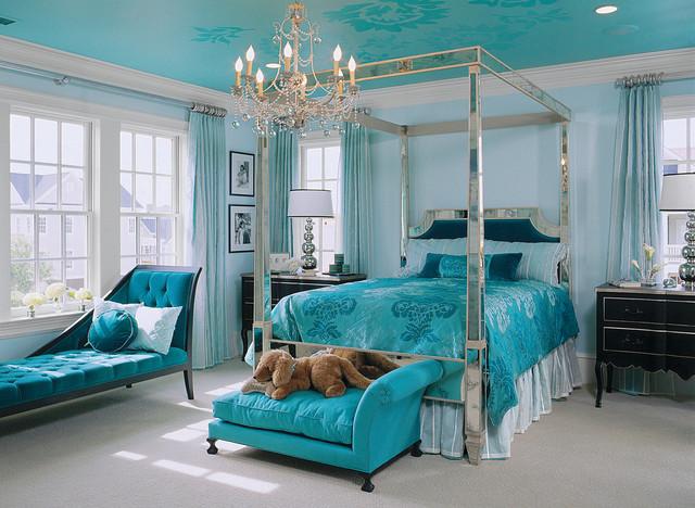 зеркальная кровать с балдахином