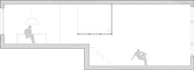 планировка квартиры студии - вид сбоку