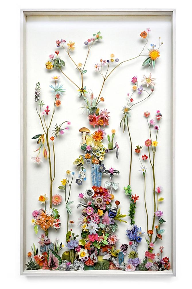 Объемная картина с цветами своими руками 6