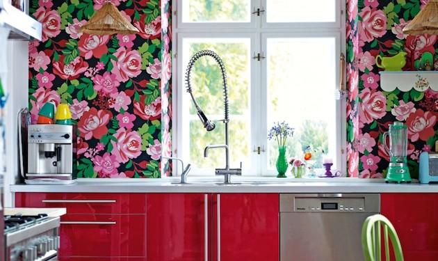 Цветочный интерьер цветочные обои (14)